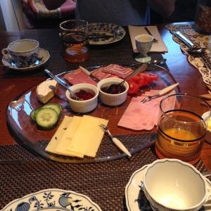 Breakfast feast at Húsið við Hafið