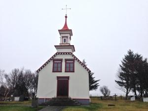 Villingaholtskirkja church made of currugated iron